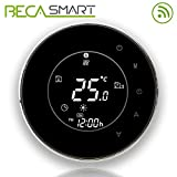 Beca 95 ~ 240VAC 16A Smart Wifi LCD pantalla táctil inalámbrico programable por suelo radiante eléctrico calefacción termostato (BHT-6000GBLW Negro)