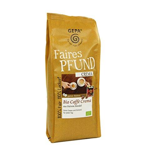 GEPA Faires Pfund Bio Caffè Crema Bohne - 1 Karton (6 x 500g)