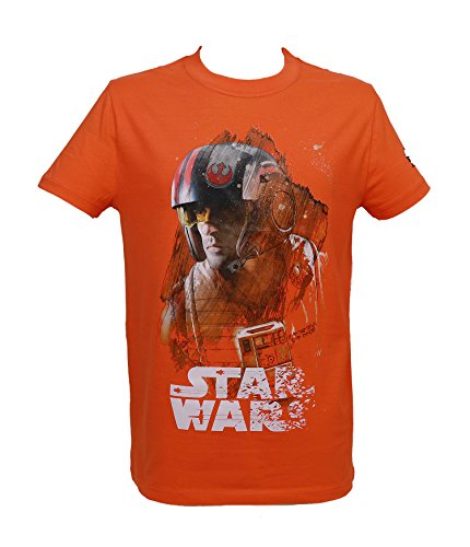 SD toys X-Wing Chico Star Wars EP. VIII Camiseta, Naranja, Large (Tamaño del Fabricante:L) para Hombre