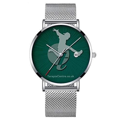 Minimalista Moda Cuarzo Reloj de Pulsera Elite Ultra Thin Impermeable Reloj Deportivo con Fecha con Banda de Malla 295.Terapia Centro
