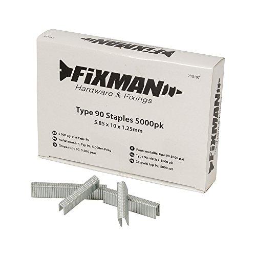 Fixman 715197 5 000 agrafes type 90 5,85 x 10 x 1,25 mm
