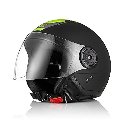 Origine Motorrad-helm Roller-Helm Scooter-Helm Open Face Street Helm 3/4 Jet-helm ECE 22.05 mit Visier