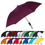 STROMBERGBRAND UMBRELLAS Spectrum Popular Style 15' Automatic Open Umbrella Light Weight Travel Folding Umbrella for Men and Women, (Burgundy)