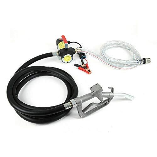 Dieselpumpe Selbstansaugend Heizölpumpe mit Zapfpistole Ölpumpe und PVC Schläuchen 175W 12V 50L/min für Diesel Tankstelle, Haupt-, Geschäft