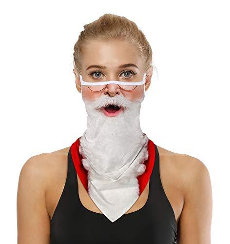 Cute Nightmare Before Christmas Decor Face Mask Bandana Ear Loops Stylish Men Women Neck Gaiters for Dust Wind Cute Santa Claus