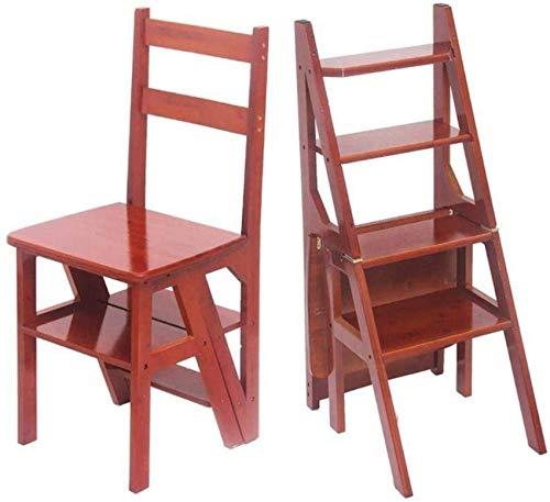 WQF Taburetes de Escalera Taburete de Escalera Plegable de 4 Capas para el hogar Taburete de bambú