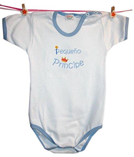 Zigozago - Body Para Bebés'PEQUEÑO PRINCIPE' Talla: 6 meses Color: Azul