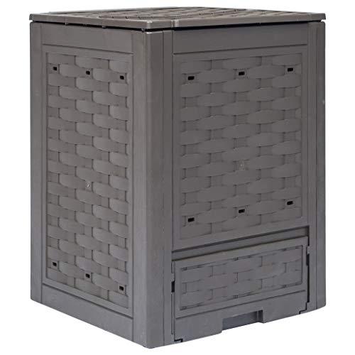 Oushome Compostiera per Giardino Marrone 60x60x83 cm 300 L