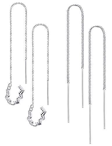 Milacolato Orecchini pendenti Orecchini pendenti da donna in argento sterling 925