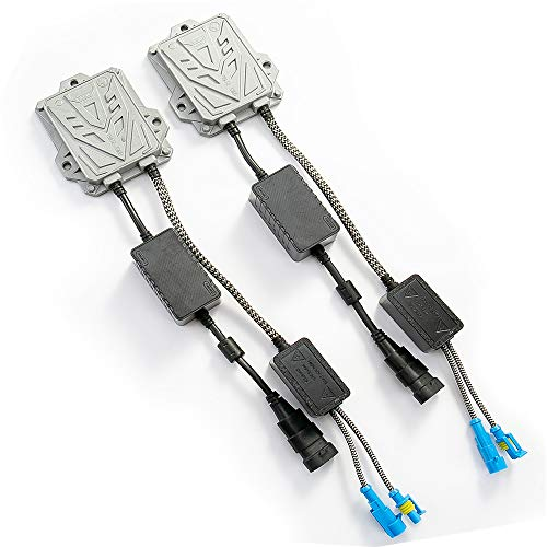 HYB Canbus Slim Digital HID Ballast 55W Error Free Warning Cancel for HID Kit H11 H7 H8 H9 H4 H1 9005 9006 Universal Fit 12v(Pack of 2)
