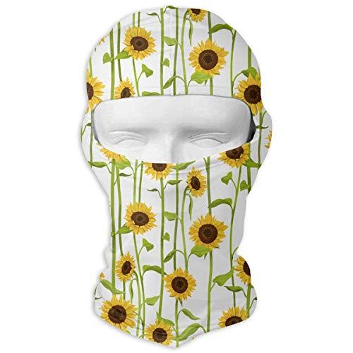 Sdltkhy Sunflower Men Women Balaclava Neck Hood Full Face Mask Hat Sunscreen Windproof Breathable Quick Drying White New18