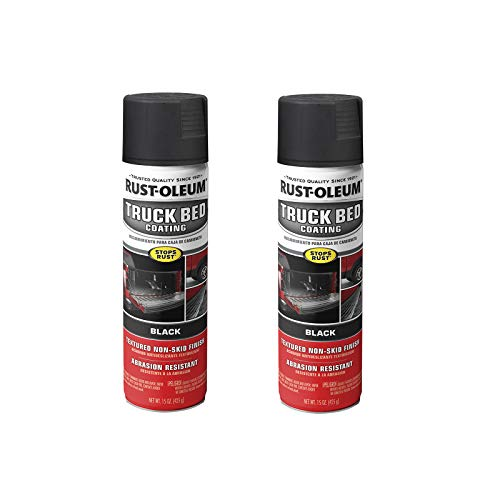 Rust-Oleum 248914A2 Truck Bed Coating Spray Paint, 15 Ounce (Pack of 2), Black, 2 Count