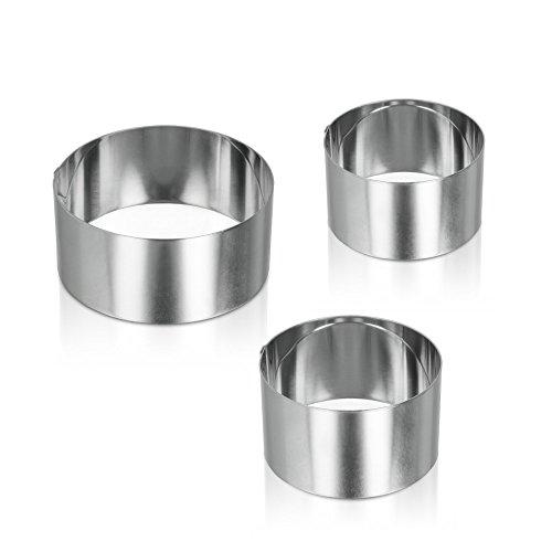 Metaltex 204536010 Kochringe Edelstahl 3 Stück in verschiedenen Größen