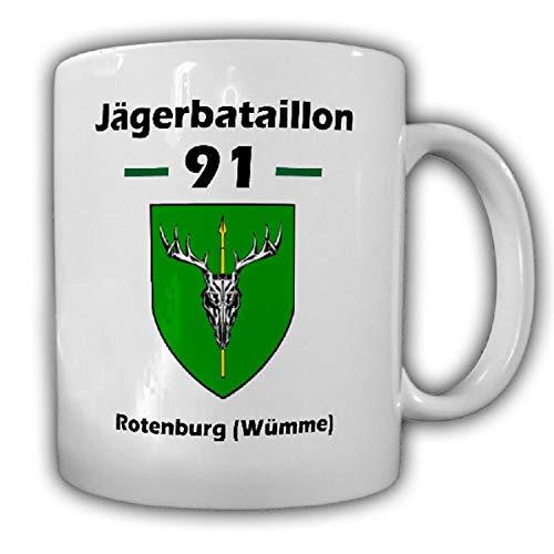 JgBtl 91 Jägerbataillon BW Jäger Infanterie Heer Wappen - Tasse Becher #18134