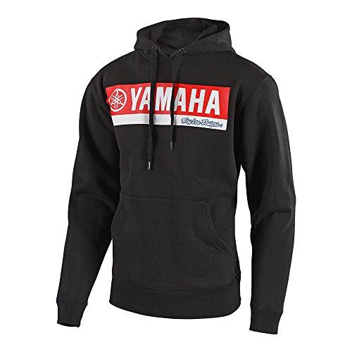Troy Lee Designs Mens Official Yamaha Licensed RL1 Pullover Hoodie (Large, Black)
