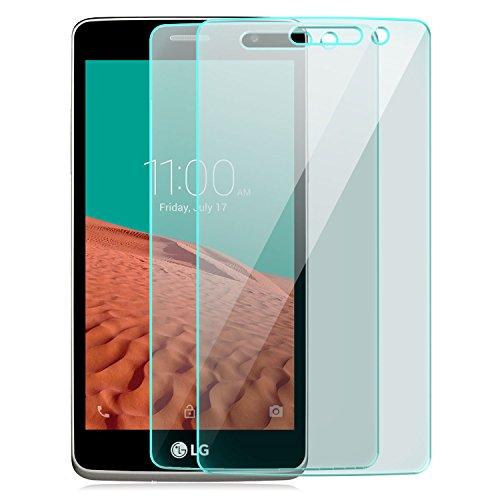 Saxonia [2 Stück Bildschirmschutz Folie kompatibel mit LG Bello 2 Bildschirmschutzfolie aus gehärtetem Glas Schutzglas Glasfolie Schutzfolie   HD Klar Transparent