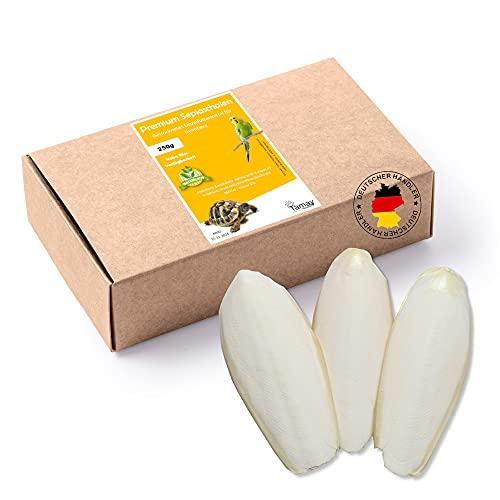 Tamay Sepiaschalen Premium I XL Vorteilspackung 250g Sepia Schalen I Optimale Kalzium und Vitaminversorgung Nahrung, Futter für Reptilien, Schildkröten, Bartagamen, Vögel I Terrarium Zubehör