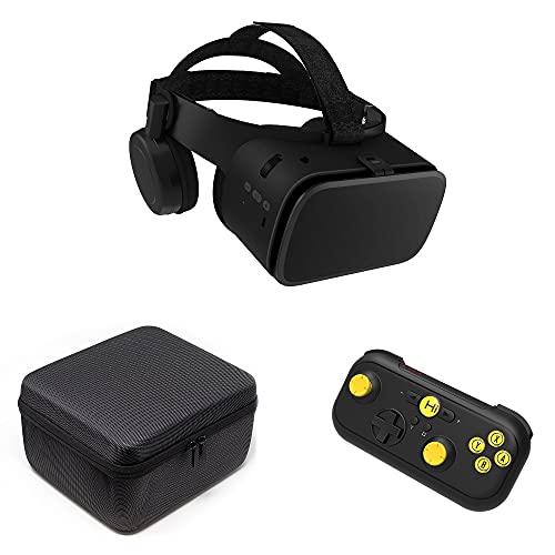 VR-SHARK X6 Geschenkset - VR Headset mit Bluetooth Gamepad | VR-Brille für 4,7 - 6,2 Smartphone | kompatibel mit Samsung / LG / Moto / Huawei / Asus [FOV 110° | Android | 360° Viewer | Nomad]