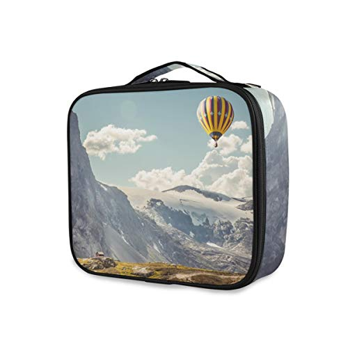Mountain Clouds Sac de Maquillage Professionnel avec Motif Ballons à air Chaud