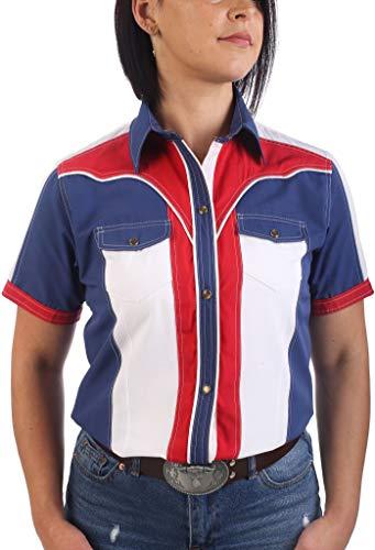 Last Rebels Country Line Dance - Camisa para mujer, color bandera de Estados Unidos multicolor X-Small