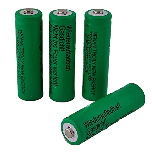 Solar-Akku leistungsstarke wiederaufladbare Batterien NiMH AA- 800mAh AAA- 600mAh (Akku AA 600mAh - 4 Stück)