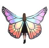 Andouy Damen SchmetterlingsFlügel Schal Tuch Poncho Umhang Nymphe Pixie Flügel