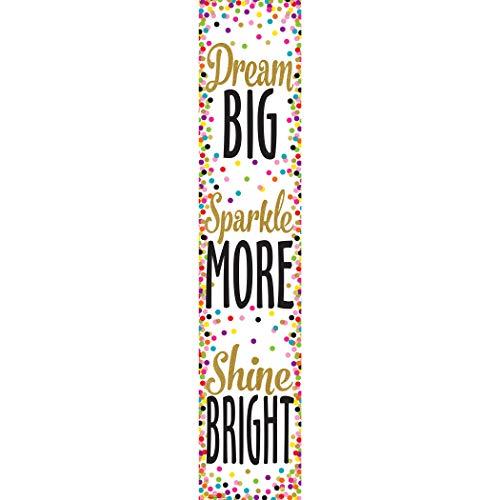 Teacher Created Resources Confetti Dream Big, Sparkle More, Shine Bright Banner (3915)