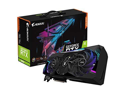GIGABYTE AORUS GeForce RTX 3080 Master 10G Graphics Card, Max Covered Cooling, 10GB 320-bit GDDR6X, GV-N3080AORUS M-10GD Video Card