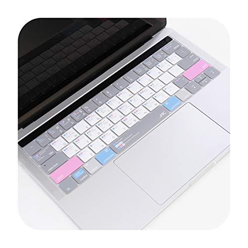 Carcasa de silicona para Apple MacBook Pro16 A2141 13' 15' A2338 A2289 A2337 Top/Bottom/Palmguard-White Pink-Pro13 None Bar A1708