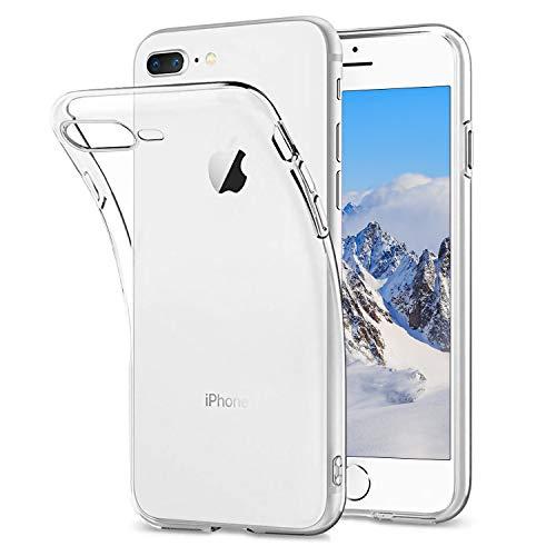 Hülle Für iPhone 8 Plus iPhone 7 Plus Transparent Handyhülle Silikon Case mit iPhone 7 Plus/8 Plus, Ultra Dünn Weich TPU Durchsichtig Handyhülle Stoßdämpfend Kratzfest für iPhone 8 Plus,Kristalklar