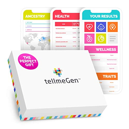DNA Test Kit tellmeGen | 390+ Reports | Health + Ethnicity (Ancestry Composition) + Genetic Carrier Status + Personal & Wellness Traits That Make You Unique | Genetic Testing Kit (DNA Test)