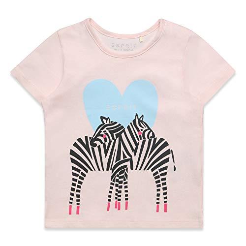 ESPRIT KIDS Baby-Mädchen SS T-Shirt, Rosa (Blush 310), (Herstellergröße: 80)