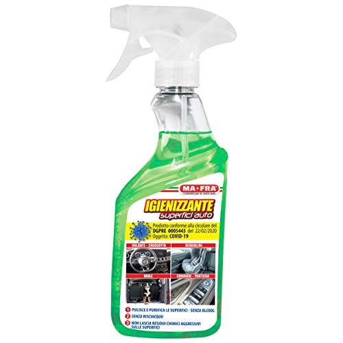 Ma-Fra H1054 Mafra, Igienizzante, Senza Alcool, Pulisce e Purifica Le Superfici Auto Non Serve Risciacquare, Confezione da 500 ml