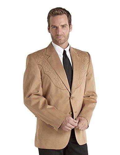 Circle S Men's Galveston Sport Coat Reg, Tall Tan 42 T