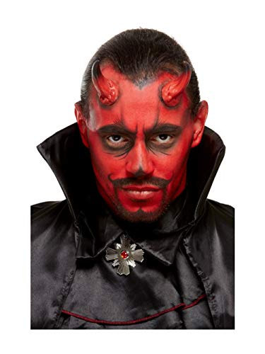 Smiffys 50914 Maquillaje FX, kit de diablo, Aqua, Hombres, Rojo y Negro,...