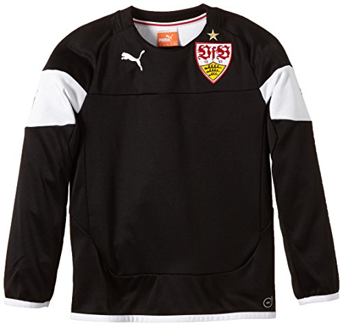 PUMA Kinder Sweatshirt VFB Stuttgart Training Sweat, Black-White, 176, 746050 02