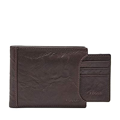 Fossil Men's Sliding 2 in 1 Wallet, Brown, One Size