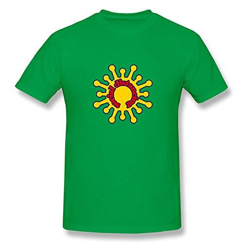 TRonin Negarse COVID-19 Coronavirus Adulto Unisex Camiseta de Manga Corta Camiseta (Color : Green, Size : M)