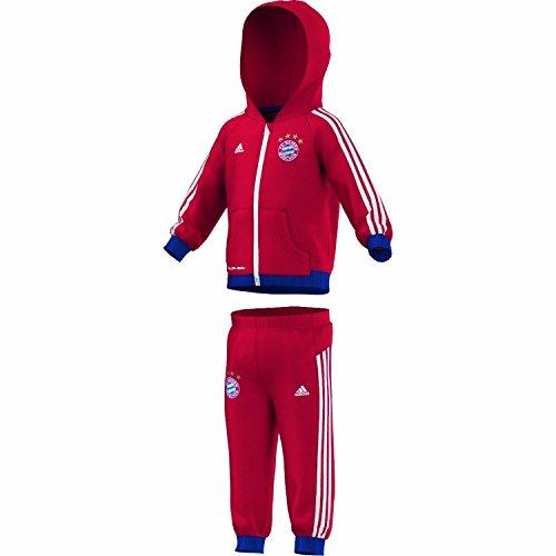 adidas–Chándal Infantil del FC Bayern de Múnich, Todo el año, Infantil, Color FCB True Red/Collegiate Navy, tamaño 92