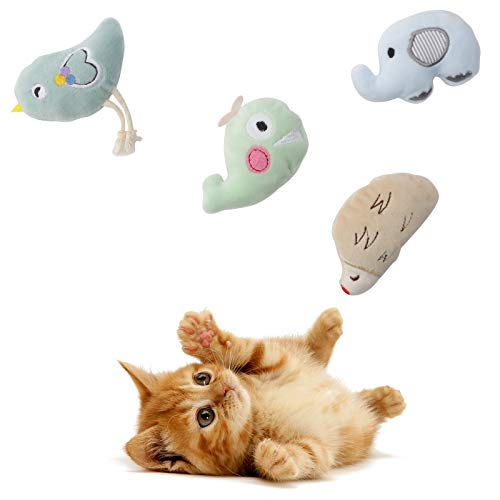 Cute Paws Christmas Cat Toy Gifts Set, Cat Kitten Interactive Toy, Cat Catnip Toys for Indoor, Catnip Toys