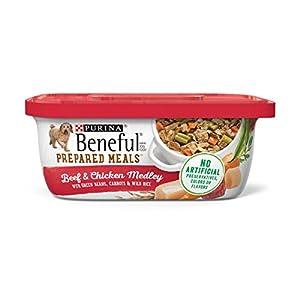 Purina Beneful Gravy Wet Dog Food, Prepared Meals Beef & Chicken Medley – (8) 10 oz. Tubs