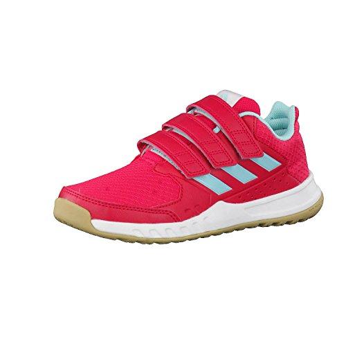 adidas Unisex-Kinder FortaGym Gymnastikschuhe, Mehrfarbig (Energy Pink F17/energy Aqua F17/ftwr White), 28 EU