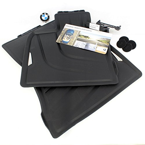 BMW X5 (F15) All-Weather Rubber Floor mats - Front Black