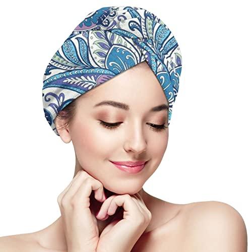 BCLYPBO Toalla de pelo japonesa, gorro de secado de pelo, toalla de secado de pelo para mujer, turbante con diseño de botón