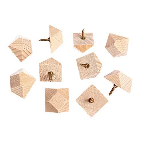 10 Ziernägel Holznägel Fachwerk Balkon mit Schraube aus Fichte 20x20x16mm neu