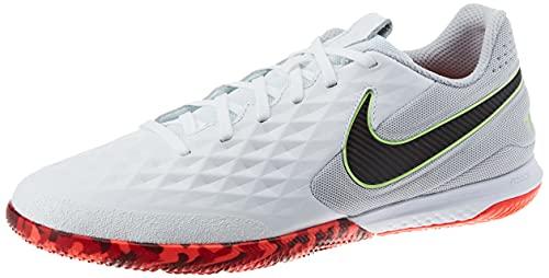 Nike React Legend 8 PRO IC, Scarpe da Calcio Unisex-Adulto, Bianco (White/Black-Grey Fog-BRT Crimson-Ghost Green), 42.5 EU