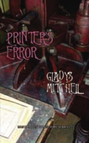 Printer's Error - Book #10 of the Mrs. Bradley