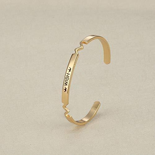 Defect Bracelet Style Copper Bracelet - Wish Set of 2