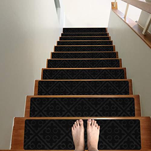Treadsafe Non-Slip Carpet Stair Treads, 15 Pack - 8