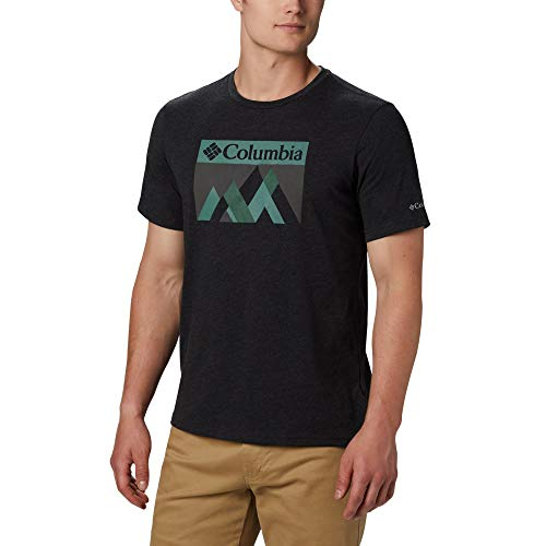 Columbia Alpine Way Graphic T-Shirt Homme Black Peak Fun FR: L (Taille Fabricant: L)